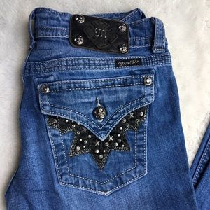 """Miss Me Bootcut Stars Studded Jeans Size 28x31"""""""